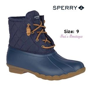 Sperry Women's Saltwater Quilted Duck Boot, 9
